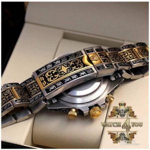 ساعت مردانه فول حكاكی موتور سوييس (Rolex)